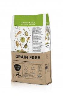 Alimento completo y equilibrado para perros adultos sin cereales GRAIN FREE CHICKEN & VEGS