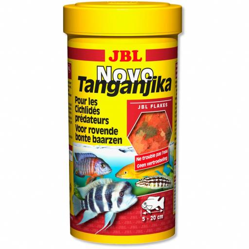 Alimento en escamas para cíclicos depredadores JBL NOVO TANGANJIKA