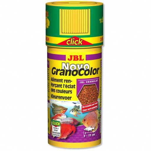 Alimento granulado potenciador del color para peces tropicales JBL NOVO GRANO COLOR 250ml