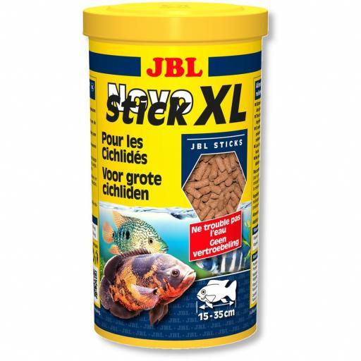 Alimento en sticks para ciclidos carnivoros de tamaño grande JBL NOVO STICK XL