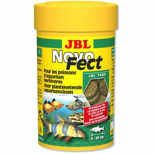 Alimento en tabletas para peces herbivoros JBL NOVOFECT 100ml