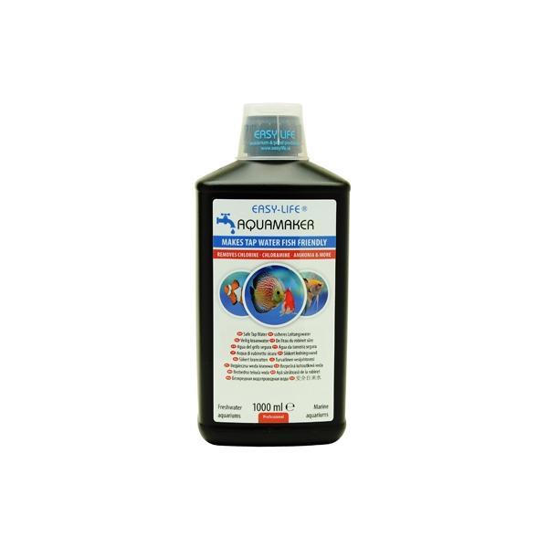 Acondicionador de agua de efecto rápido y eficaz tanto en acuarios de agua dulce y salada AQUAMAKER