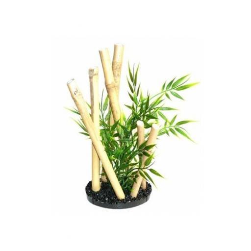 Bambú con planta acuática para la decoración de acuarios SYDECO