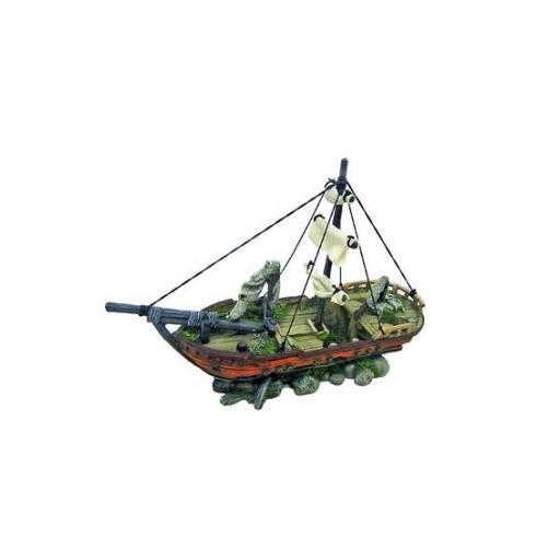 Barco decorativo para acuarios tropicales SAILING de AMTRA