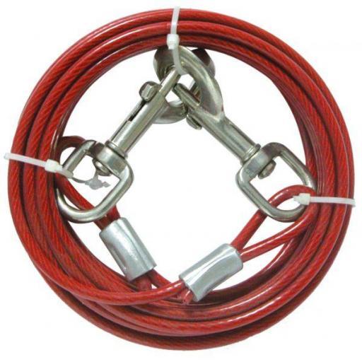 Cable de amarre para perros en acero forrado