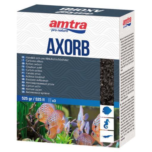 Carbón activo de origen mineral para acuarios AXORB de AMTRA 525gr