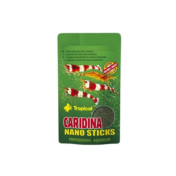 Alimento en sticks para gambas ornamentales de acuario pequeñas CARIDINA NANO STICKS 10gr