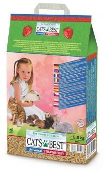 Lecho higiénico ecológico para mascotas con aroma a fresa