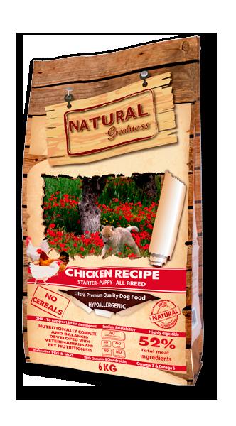 Alimento para perros desde el destete hasta el final del crecimiento CHICKEN RECIPE