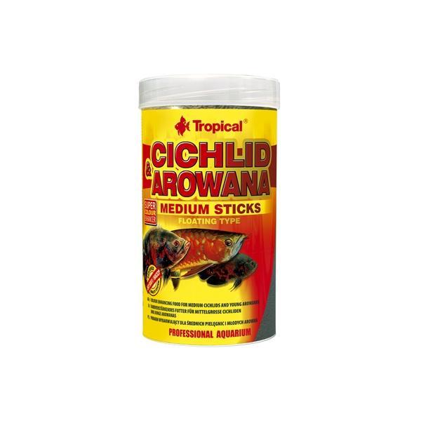 Alimento en sticks medianos para cíclidos y arowanas TROPICAL
