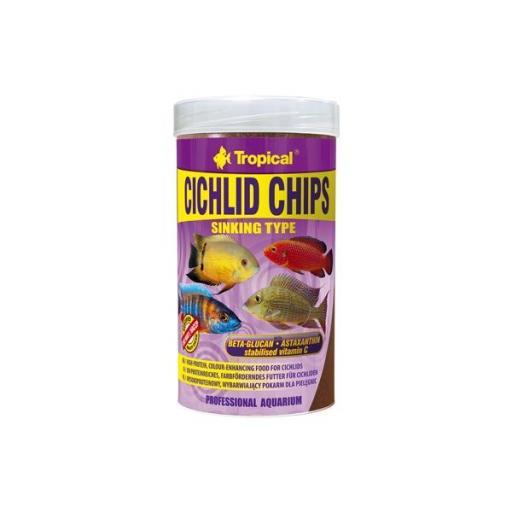 Alimento en chips para cíclidos TROPICAL