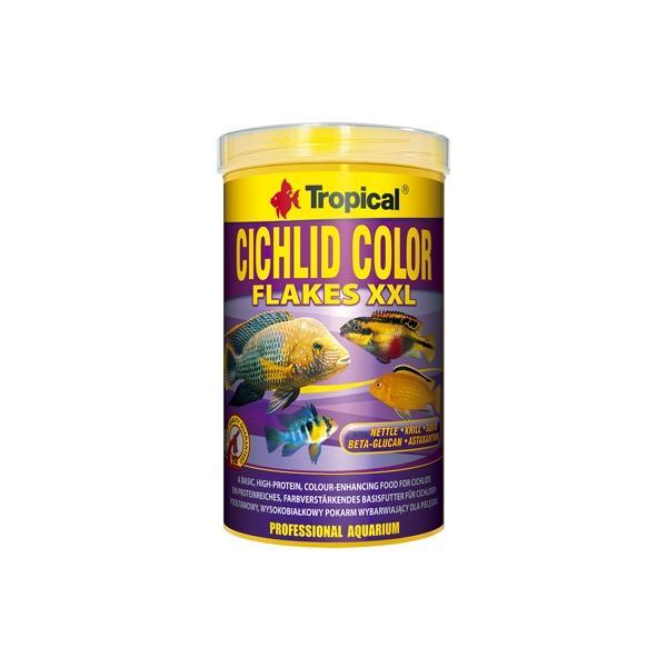 Alimento en escamas grandes CICHLID COLOR FLAKES XXL 1 litro