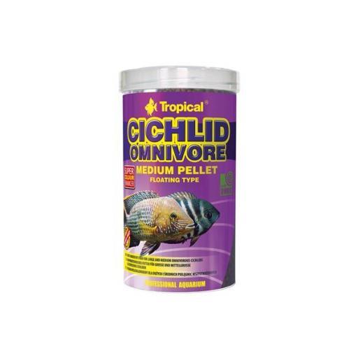 Alimento en pellets medianos para cíclidos omnivoros 500ml