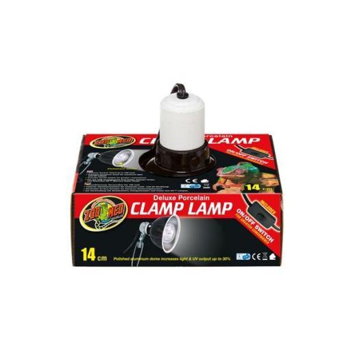 Portalámparas con base de porcelana para terrarios CLAMP LAMP DELUXE