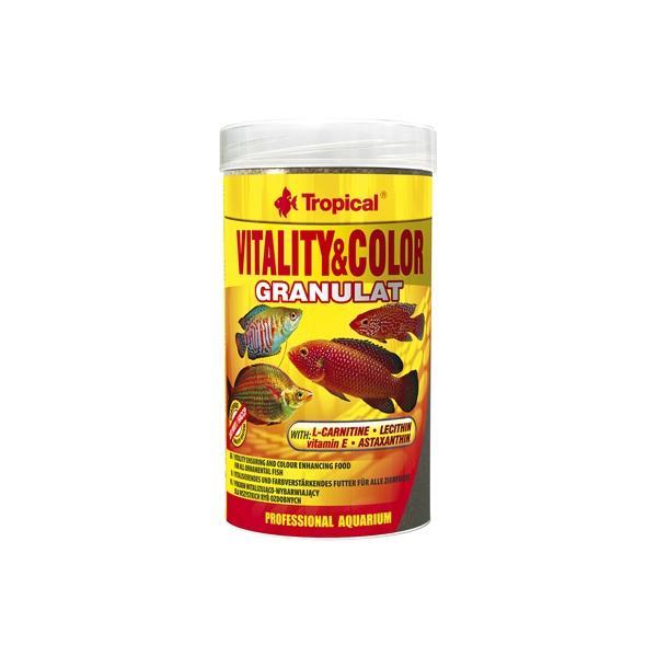 Alimento granulado para potenciar el color natural de los peces VITALITY & COLOR GRANULAT 250ml