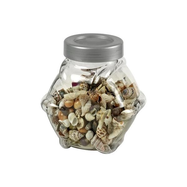 Conchas decorativas en tarro