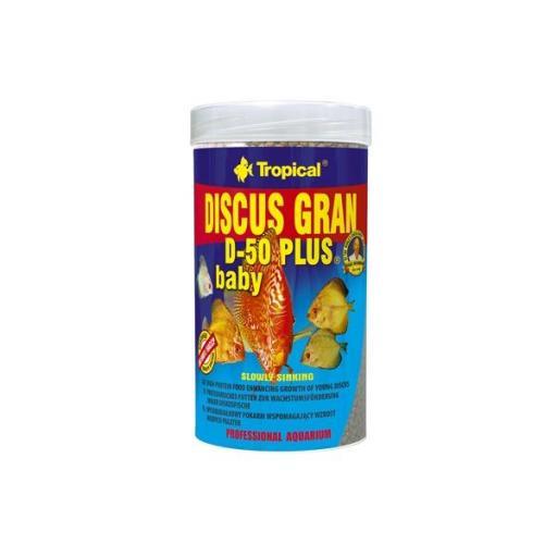 Alimento granulado para peces disco jovenes DISCUS GRAN D50 PLUS BABY 250ml