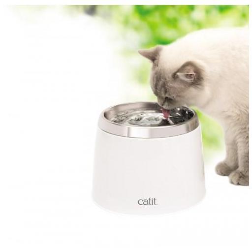 Fuente para gatos de aceiro inoxidable 2 litros