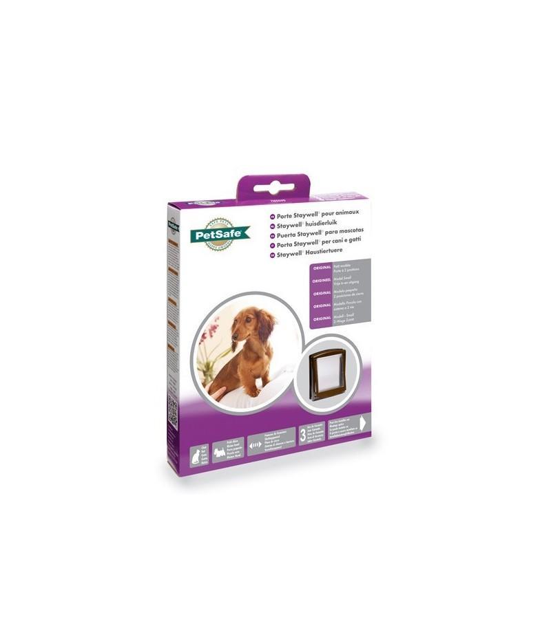 Puerta de plástico para gatos y perros pequeños 730 en color marrón