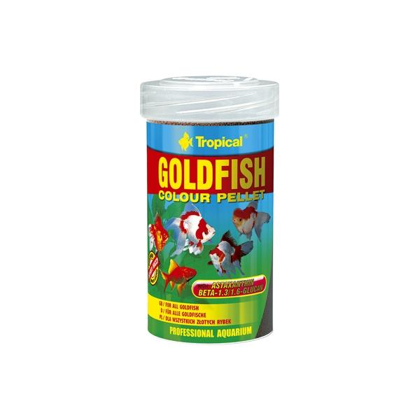 Alimento potenciador del color en pellets para peces de agua fría