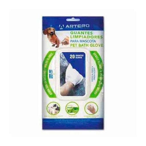 Guantes limpiadores para mascotas ARTERO