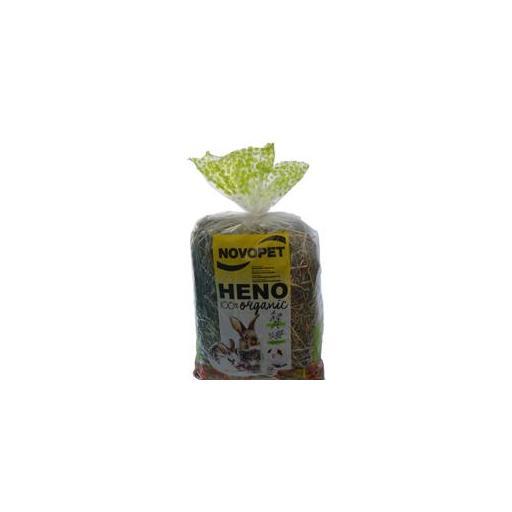 Heno organico premium de menta y escaramujo para roedores
