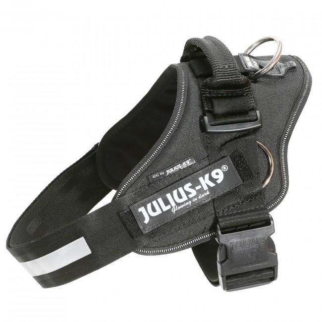 Arnes con anillas laterales para tirar JULIUS K9 en color negro