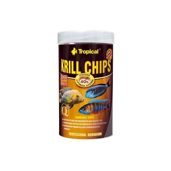 Alimento en chips con un contenido del 40% en krill para peces tropicales