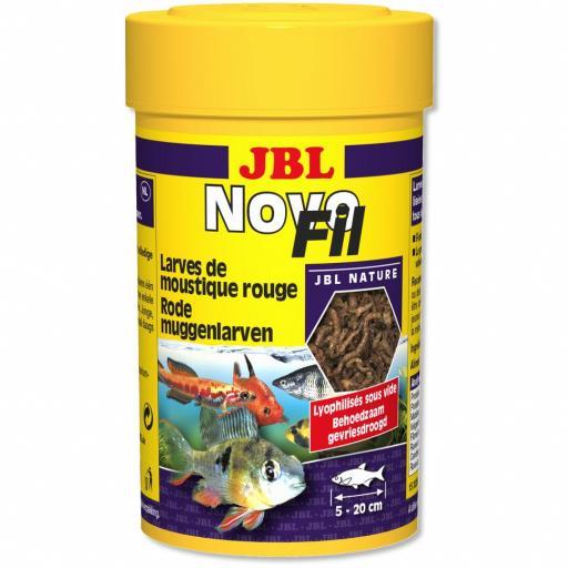 Larvas rojas de mosquito para peces tropicales y tortugas de agua JBL NOVOFIL 100ml