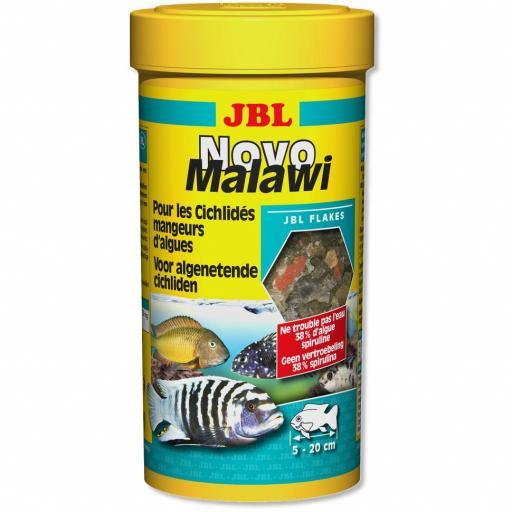 Alimento en escamas para cíclicos herbívoros JBL NOVOMALAWI