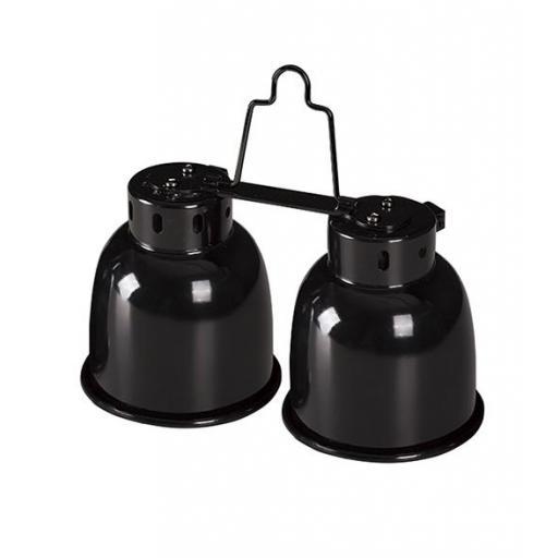 Portalámparas de cúpula ideal para terrarios de pequeñas dimensiones MINI COMBO DOME de REPTIZOO