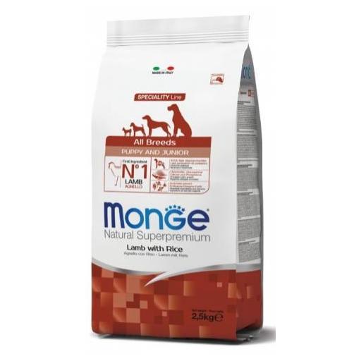 Alimento para perros en crecimiento a base de cordero con arroz MONGE 12kg