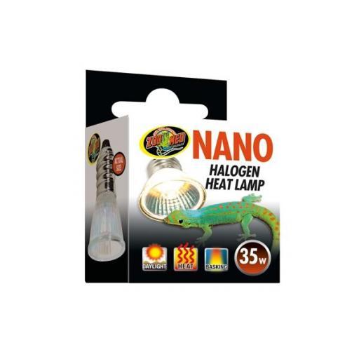 Luz halógena transmisora de calor ideal para nano terrarios NANO HALOGEN HEAT LAMP 35w