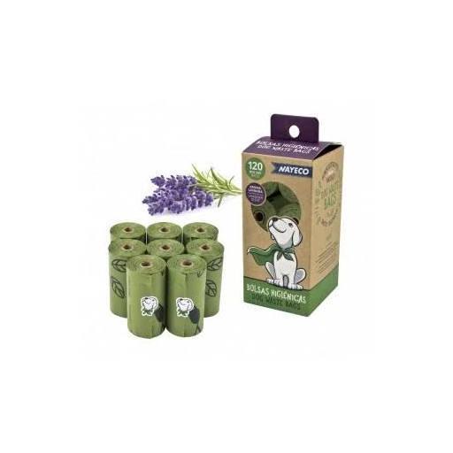 Bolsas biodegradables con aroma a lavanda para recoger las heces de los perros