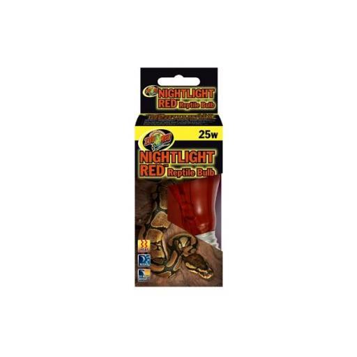 Lámpara emisora de calor con luz tenue roja para preservar el comportamiento natural de los reptiles por la noche NIGHTLIGHT RED