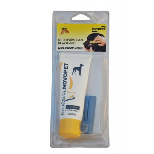Pasta dental para perros con cepillo