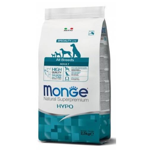 Alimento para perros con alergias a base de salmón y atún MONGE 12kg