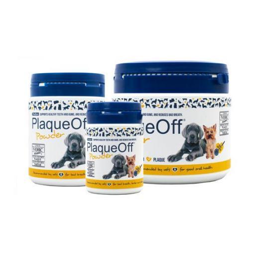 PLAQUEOFF para la higiene dental de perros en polvo