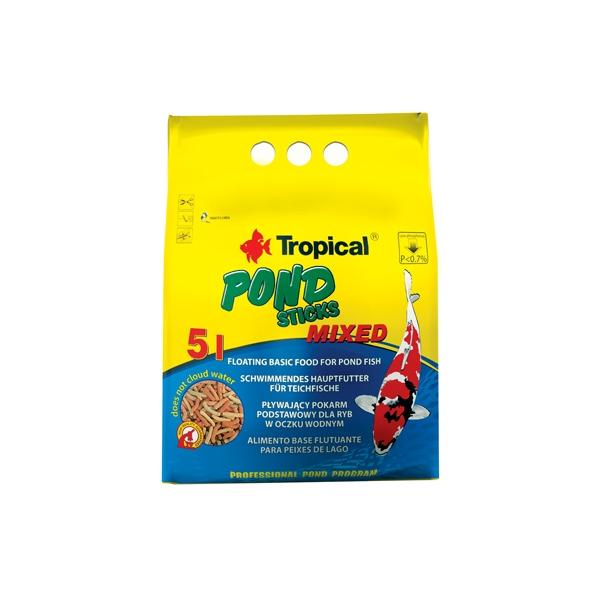 Alimento en sticks para peces de estanque POND STICKS MIXED 50 litros