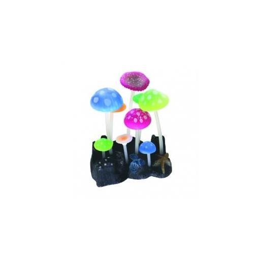 Setas fluorescentes para acuario