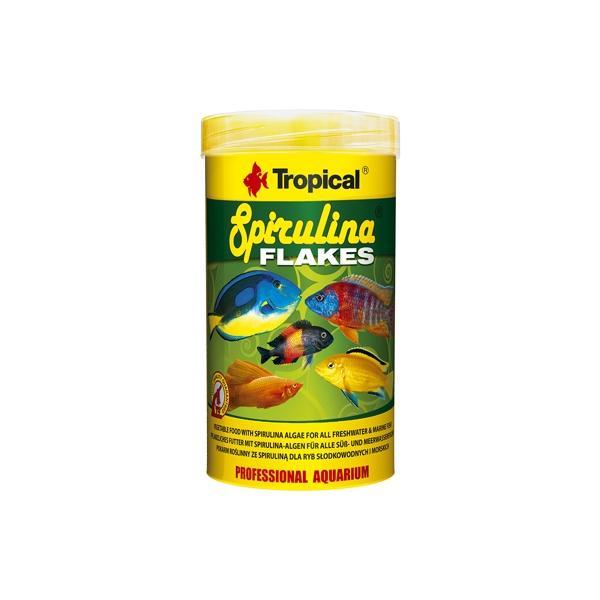 Alimento vegetal en escamas para peces tropicales y marinos SPIRULINA FLAKES