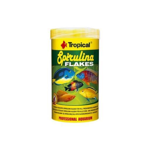 Alimento vegetal en escamas para peces tropicales y marinos SPIRULINA FLAKES [0]