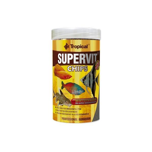 Alimento en chips para peces tropicales SUPERVIT