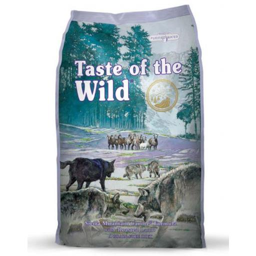 Pienso para perros sin cereales a base de cordero TASTE OF THE WILD 12,2kg