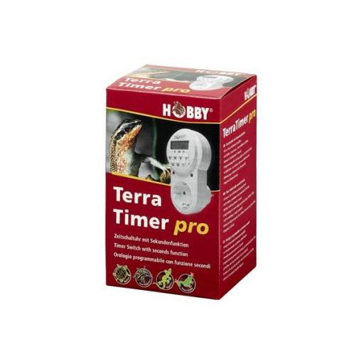 Reloj programador con función de segundos TERRA TIMER PRO
