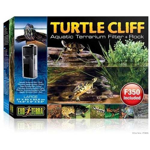 Roca con filtro para tortugueras TURTLE CLIFF de EXOTERRA