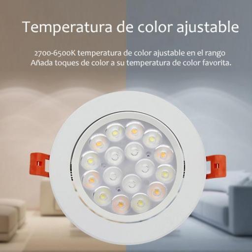 Downlight enfocable 9w RGB+CCT ,control remoto, app comp Alexa. [2]