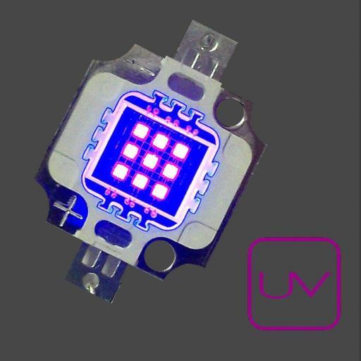 U.V. Power 390nm . Emisor de Rayos Ultravioleta. Chip On Board. [0]