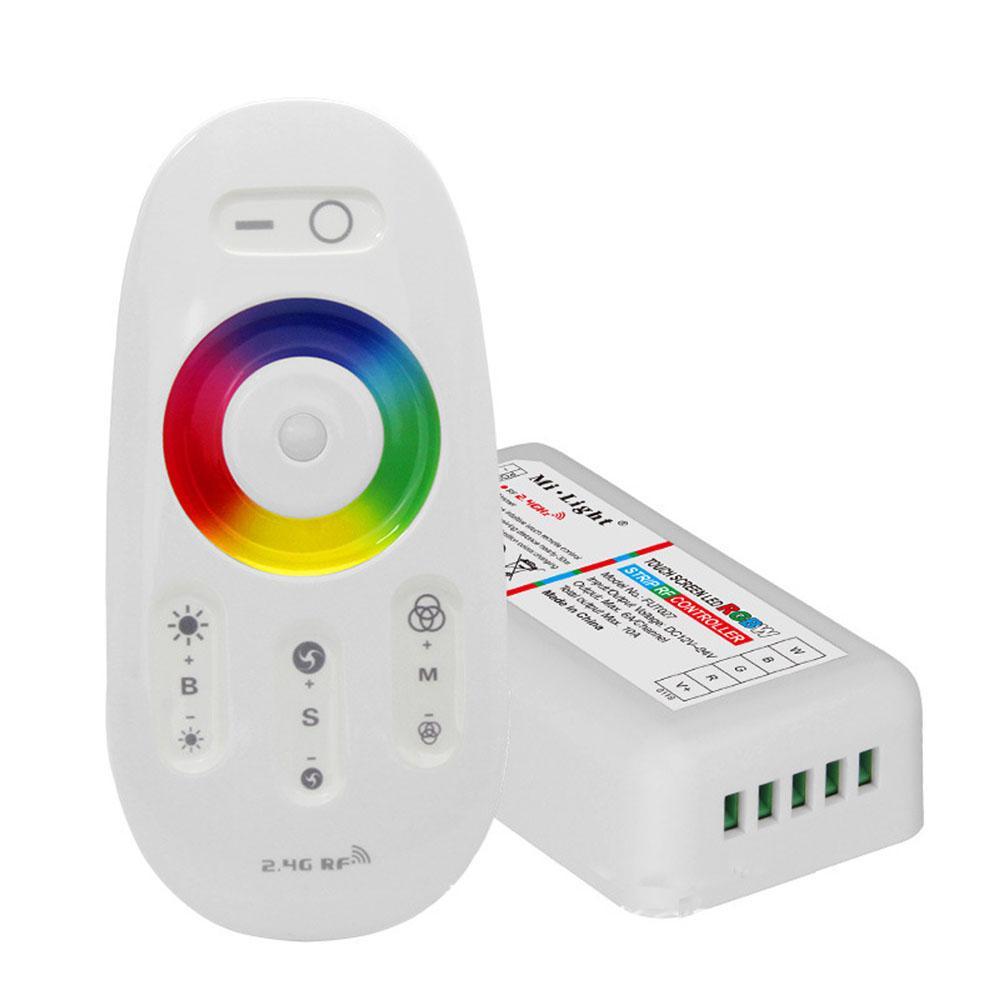 Controlador y mando distancia RGB+W. Un solo canal,