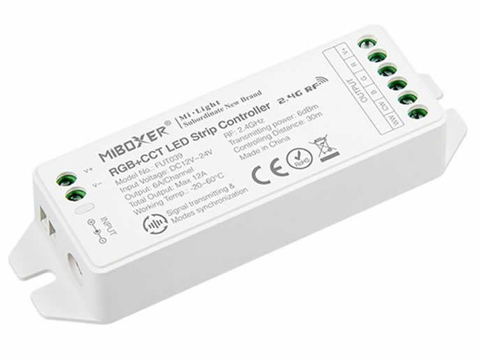 Nuevo V2.0 RGB+CCT Controlador de tiras LED